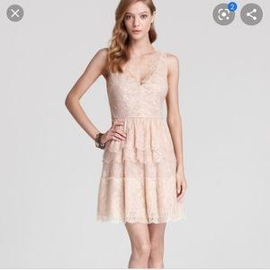 NWOT BCBG Maxazria champagne lace dress
